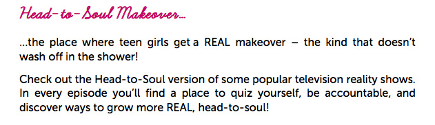 Welcome to Head-to-Soul Makeover!
